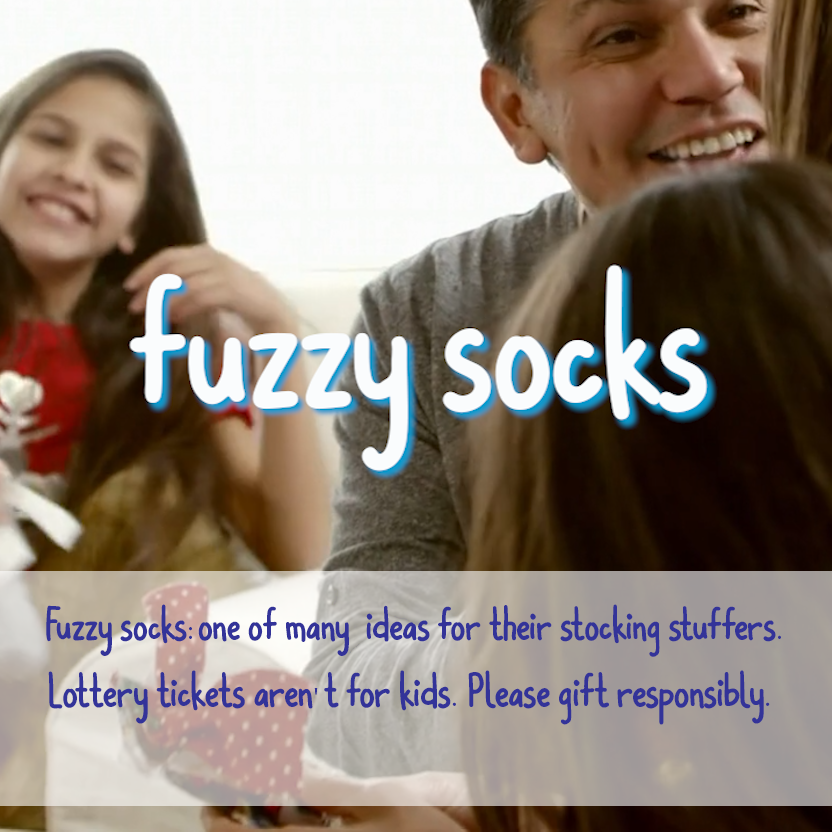 fuzzy socks - better than lottery tickets for their stocking stuffers