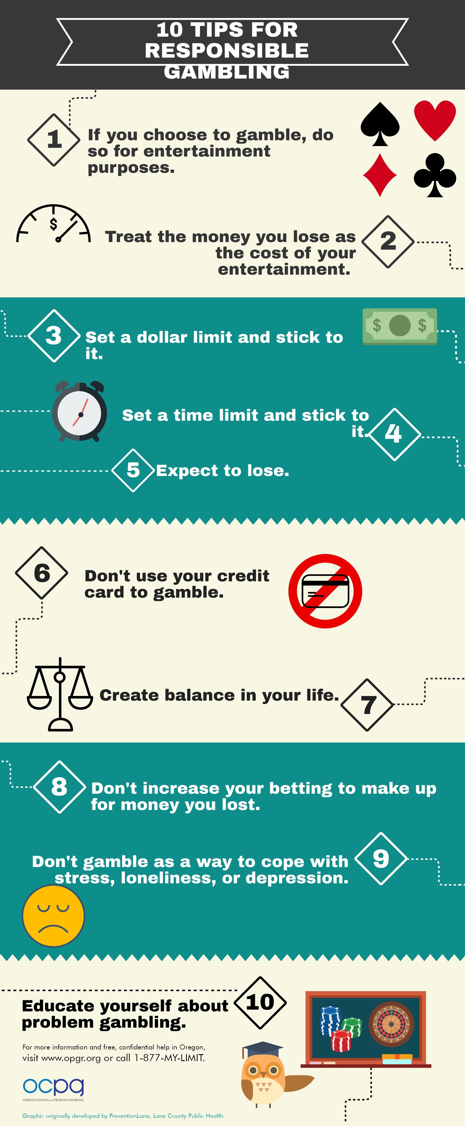 10 tips for responsible gambling